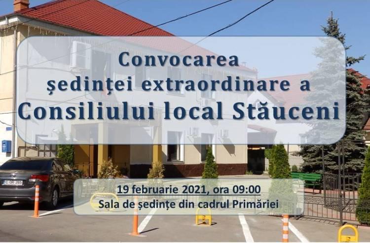 Consiliul local se întrunește în ședință la data de 19.02.2021