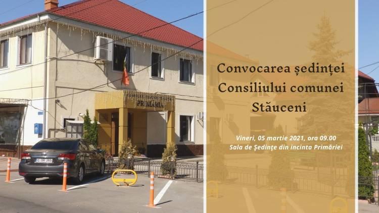 Convocarea ședinței extraordinare a Consiliului comunei Stăuceni