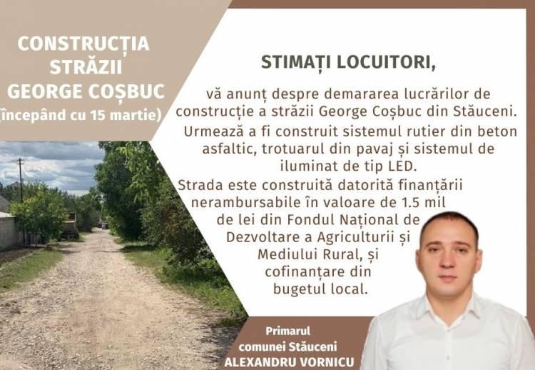 Construcția străzii George Coșbuc