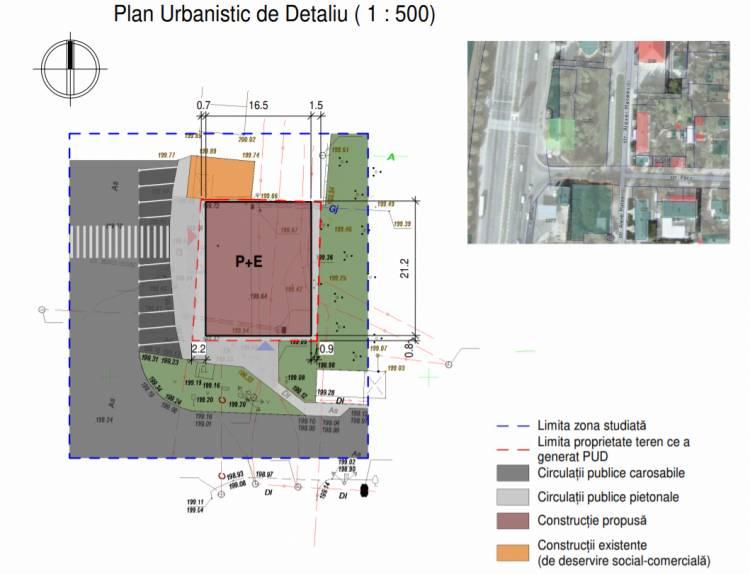 Consultarea publică a PUD - Construirea anexei cu edificarea unui etaj la magazin alimentar