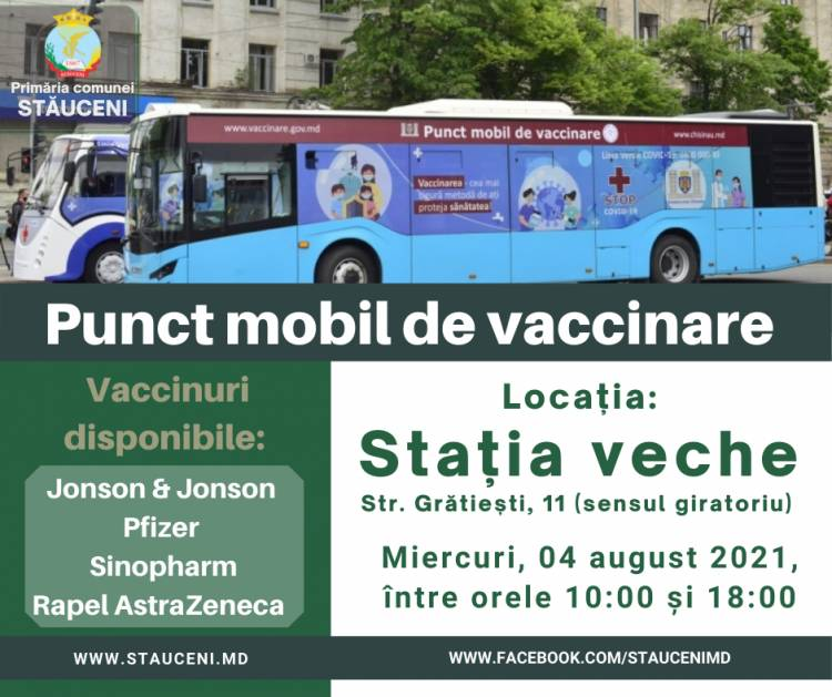 Imunizarea la punctul mobil de vaccinare doar cu buletinul de identitate